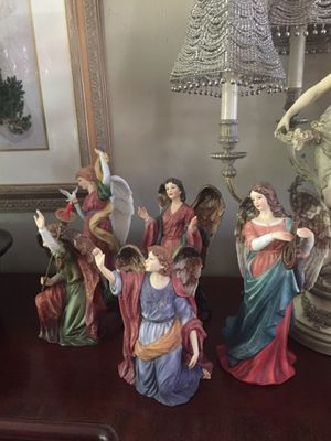 Hand painted set of Porcelain angels for Sale in Roanoke, VA