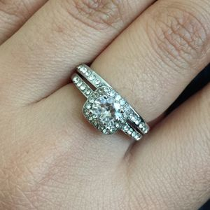 Alloy filled Artificial Diamond ring wedding engagement ring band size 5,7,8 available. Might have sz 6 for Sale in Silver Spring, MD