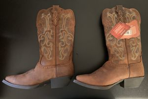 Brand new Justin's Ladies Leather Boots size 8.5 for Sale in Schaumburg, IL