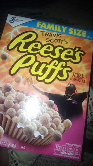 Limited edition Travis Scott Reese's Puffs. Family size for Sale in Los Nietos, CA