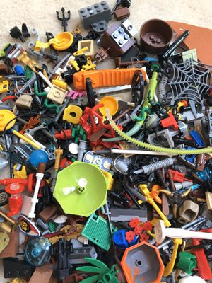Big bag of lego parts and minifigure accessories for Sale in Raleigh, NC