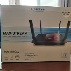 Linksys Max-Stream AC2600 ROUTER. GAMING ROUTER. MULTI DEVICE ROUTER. for Sale in Rancho Cucamonga, CA