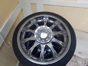 "20"" chrome x5 universal rims for Sale in Alafaya, FL"