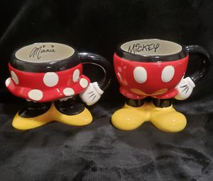 Authentic Disney Minnie and Mickey Mouse Coffee Cups Mugs for Sale in Milton, FL