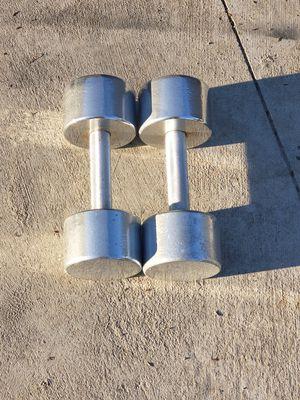 20lb Chrome Dumbbell Set for Sale in Glendale, AZ