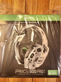 BRAND NEW FACTORY SEALED RIG 500 PRO EX 3D Audio Wired Gaming Headset for Xbox Series X|S & Xbox One for Sale in The Bronx,  NY