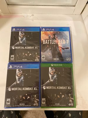 Mortal kombat xl ps4 10$ jurupa valley still in plastic seal for Sale in Fontana, CA