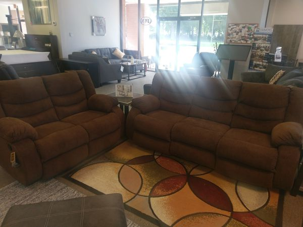 Brown Reclining Sofa and Love by Ashley NEW