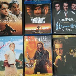 Shawshank, No Country For Old Men, The Natural, Braveheart & Godfather for Sale in Sacramento, CA