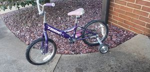"""Girls bicycle with training wheels 15"""" for Sale in Inman, SC"""