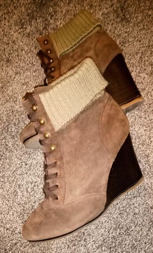 Charlotte russe ankle wedge boots size 9 for Sale in Wichita, KS