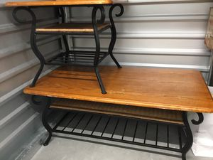Set of 3 Iron Wicker Tables for Sale in Denver, CO