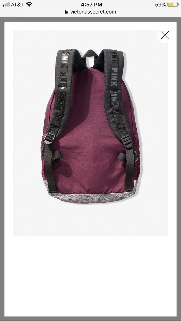 Victoria secret pink burgundy backpack