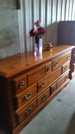 QUALITY SOLID WOOD LONG DRESSER DRAWERS for Sale in Fairfax, VA