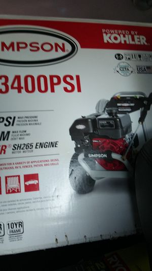 GAS POWERED 3400PSI SIMPSON PRESSURE WASHER for Sale in Mesa, AZ