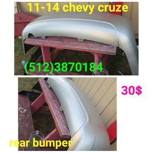 2011 2012 2013 2014 chevy cruze rear bumper for Sale in Austin, TX