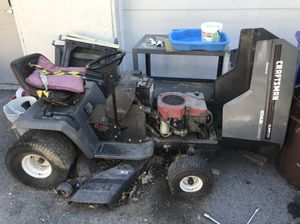Craftsman riding tractor—— needs tires —— had running 2 years ago—-make an offer need gone by Labor Day for Sale in Savage, MD