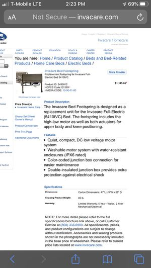 Invacare hospital bed for Sale in Riverside, CA