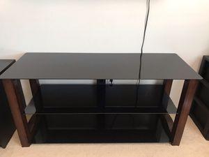 TV stand w/glass shelves for Sale in Rancho Santa Margarita, CA