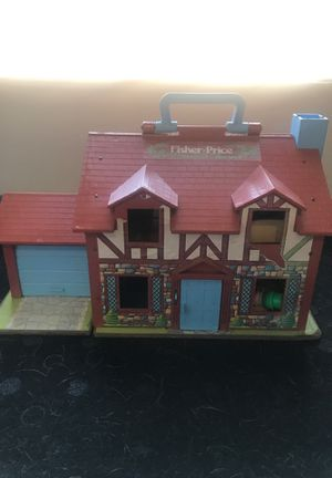 Vintage Fisher-Price Cottage House with Accessories and People for Sale in Glendale, AZ