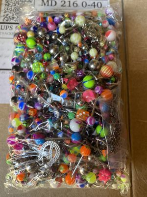 1000 piece body jewelry for Sale in Preston, MD