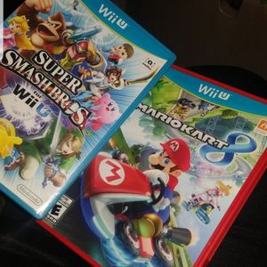 Wii U Mario Kart 8 And Super Smash Bros New Condition for Sale in Yorkville, IL