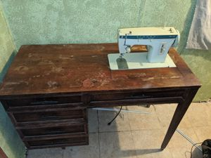 Singer sewing machine and desk for Sale in Gilmer, TX
