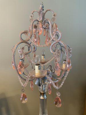 Pink chandelier lamp for Sale in Hialeah, FL