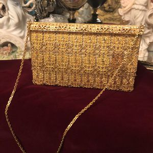 Beautiful Vintage Gold Brass Crystal 19th Century Handbag for Sale in La Mirada, CA