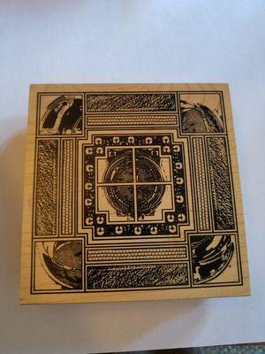 Intricate design rubber stamp for Sale in Chicago, IL