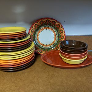 Ceramic Fiestaware Dish Set. No Chips, Scratches Or Damage. for Sale in Gresham, OR