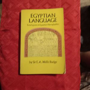 Egyptian Language: Easy Lessons in Egyptian Hieroglyphics by Sir E a Wallis Budge for Sale in Converse, TX