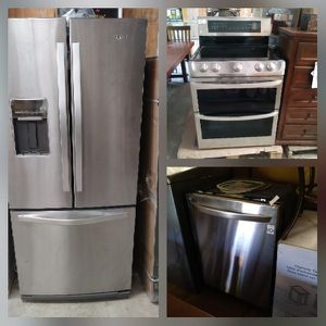 3pc Stainless Steel Refrig, Stove and dishwasher for Sale in McDonough, GA