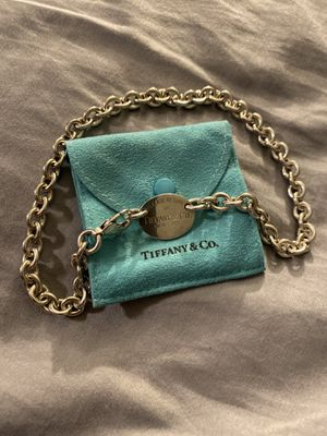 Tiffany and Company oval tag necklace for Sale in Henderson, NV