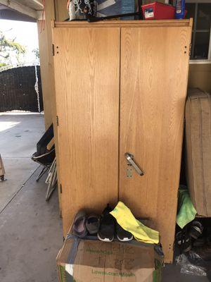 Wooden wardrobe closet for Sale in Anaheim, CA