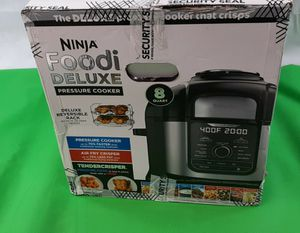 NEW Ninja Foodi 8qt. 9-in-1 Deluxe XL Pressure Cooker & Air Fryer Stainless Steel for Sale in Washington, DC