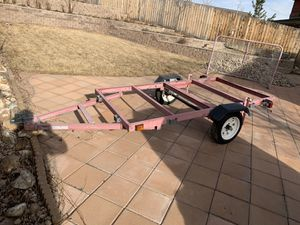 Flatbed trailer used twice for Sale in Arvada, CO