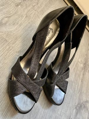 """Fiona Nights Sparkly Black 6"""" Heels - Womens' Size 7.5 for Sale in Ithaca, NY"""