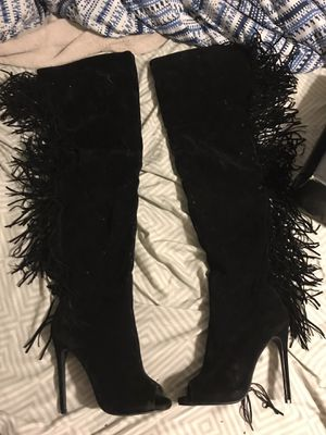 Thigh high heels boots for Sale in Stamford, CT