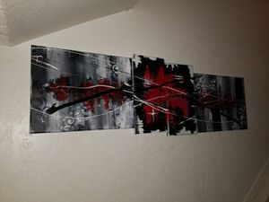 Local abstract art 4 canvas mural for Sale in Denver, CO