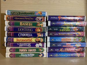 Lot of 17 Disney VHS Tapes Walt Disney Tapes for Sale in Manassas, VA