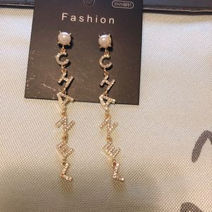 🌹「 🌷925 Silver Needle CC Earring 」 for Sale in Monterey Park, CA