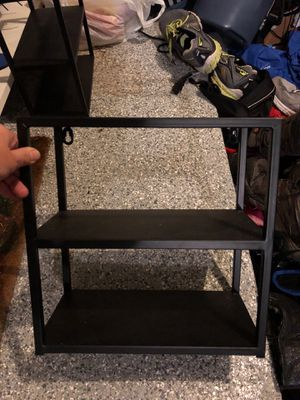 Set of two wall shelves - metal - approx 12 inches tall for Sale in Plainfield, IL