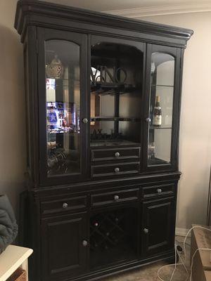 Black China/Wine Cabinet for Sale in Phoenix, AZ