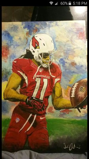 Larry fitzgerald acrylic painting for Sale in Phoenix, AZ