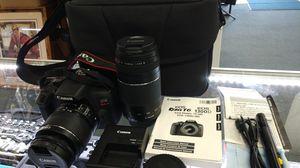 Canon EOS Rebel T6 Digital SLR Camera w/ 2 Lenses 18-55mm & 75-300mm and Case for Sale in Chula Vista, CA