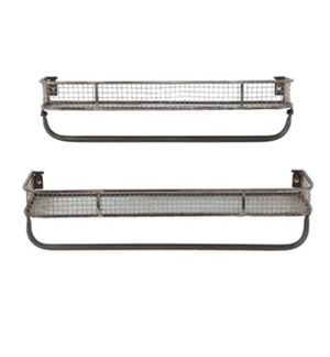 Metal Wall Shelves with Hanging Bar- Creative Co-op: Casual Country for Sale in San Diego, CA