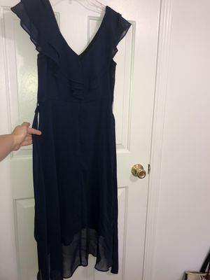 Navy chiffon dress for Sale in Indian Trail, NC