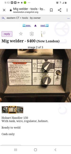 Hobart, 240 Mig Welder for Sale in New Haven, CT