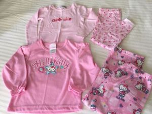 Girls SIZE 2T CARTERS & Hello Kitty Pajamas $15 FIRM clean excellent cond. NO RIPS/STAINS (SMOKE/PET FREE HOME) for Sale in Plainfield, IL